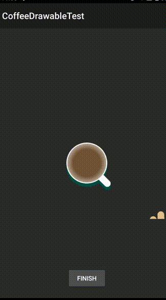 CoffeeDrawable(搅拌咖啡下拉刷新动画)