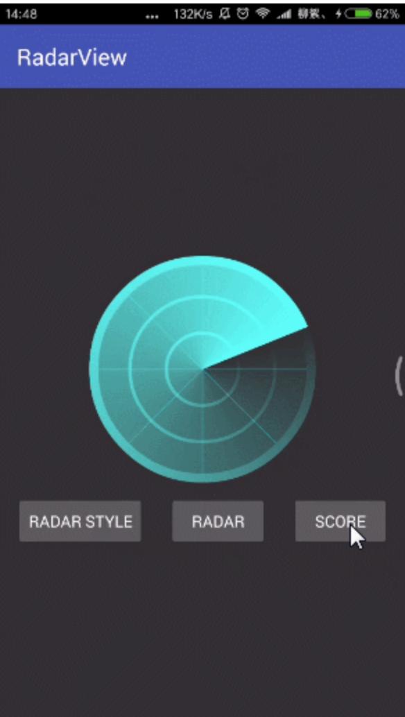 RadarView之自定义雷达扫描动画效果。