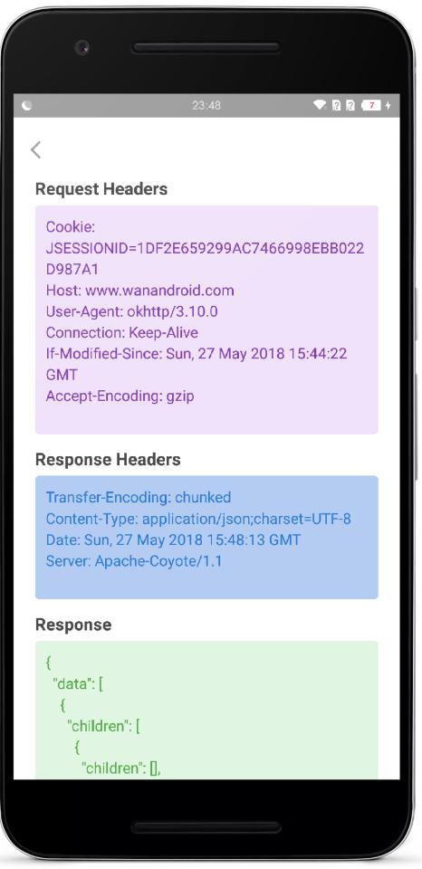 可视化实现在手机上抓包 方便调试  OkNetworkMonitor